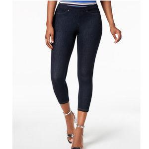 HUE Women's Original Denim Capri Leggings MED New